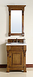 26 inch Country Oak Finish Single Sink Bathroom Vanity Optional Countertop