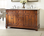 Adelina 60 inch Mission Double Sink Bathroom Vanity