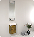 "15"" Small Zebra Modern Bathroom Vanity, Soft Closing Door"