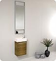 15 inch Small Zebra Modern Bathroom Vanity
