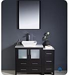 Fresca Torino 42 inch Espresso Vessel Sink Bathroom Vanity