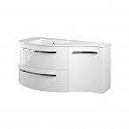 """43"""" Vanity with Right Concave Cabinet with Color Options"""