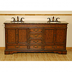 Accord 72 inch Antique Double Sink Vanity Baltic Brown Top