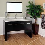 Bella 55 inch Single Sink Bathroom Vanity Artisan White Top