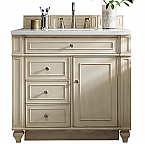36 inch Antique Single Sink Bathroom Vanity Vintage Vanilla Finish